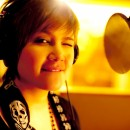 Tata young on recording session 04/2010
